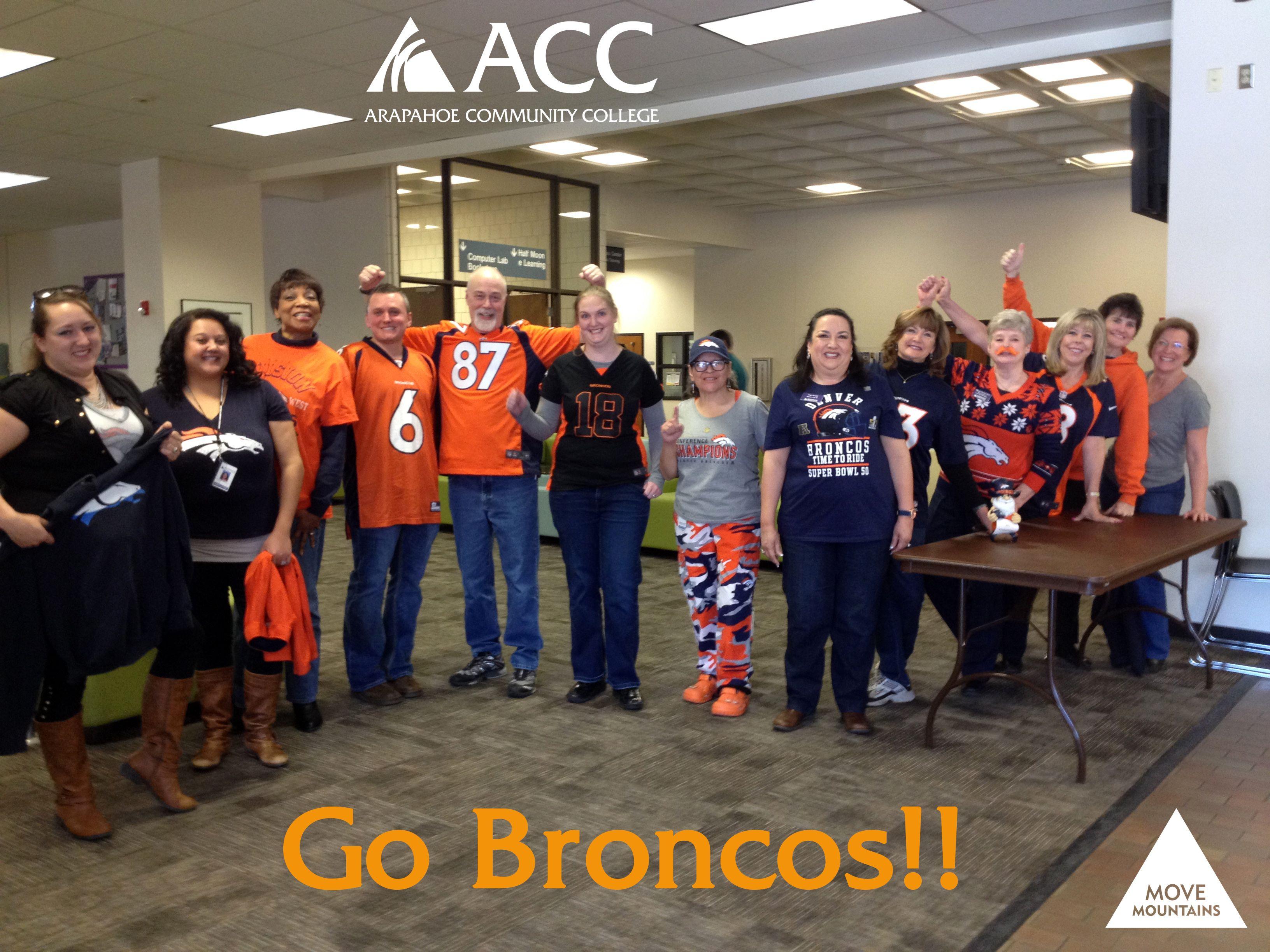 Broncos fans at ArapahoeCC (Feb. 5, 2016). Broncos fans