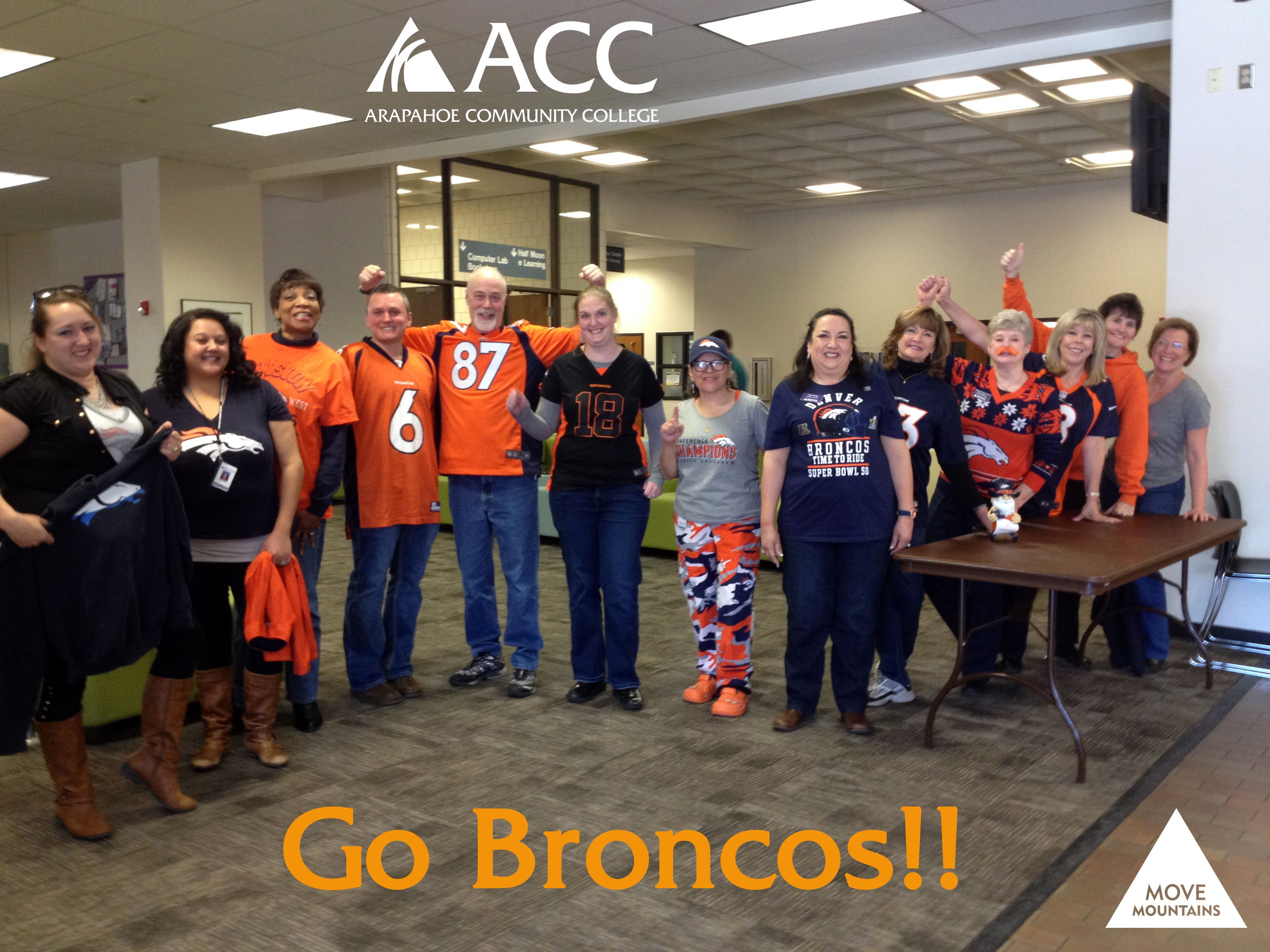 Broncos fans at #ArapahoeCC (Feb. 5, 2016).