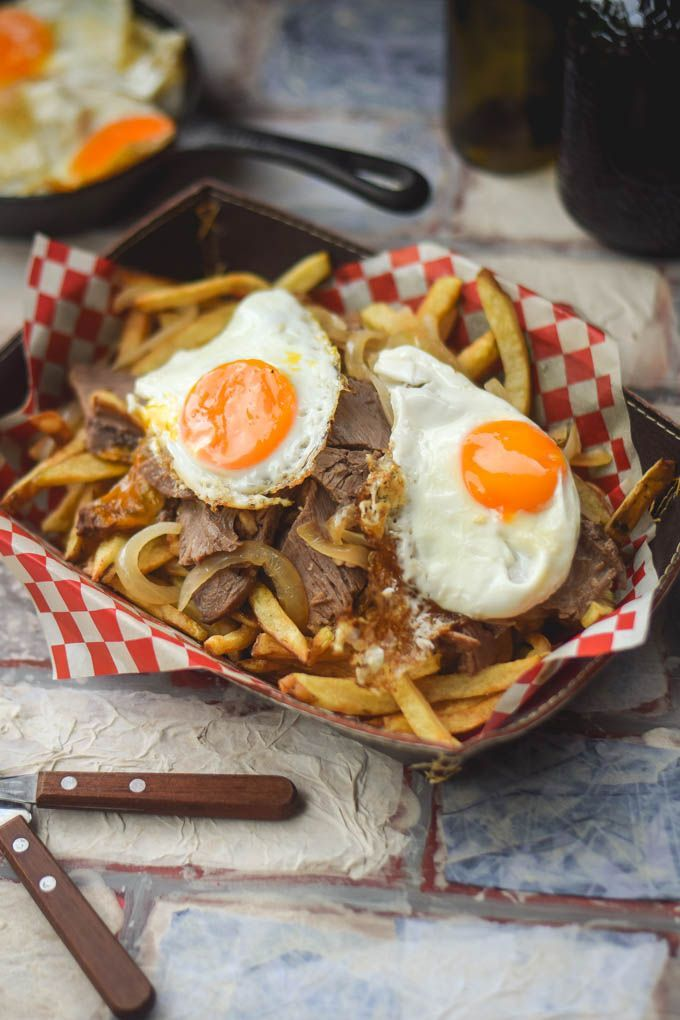 Traditional Chilean Chorrillana (Beef and Egg Loaded ...