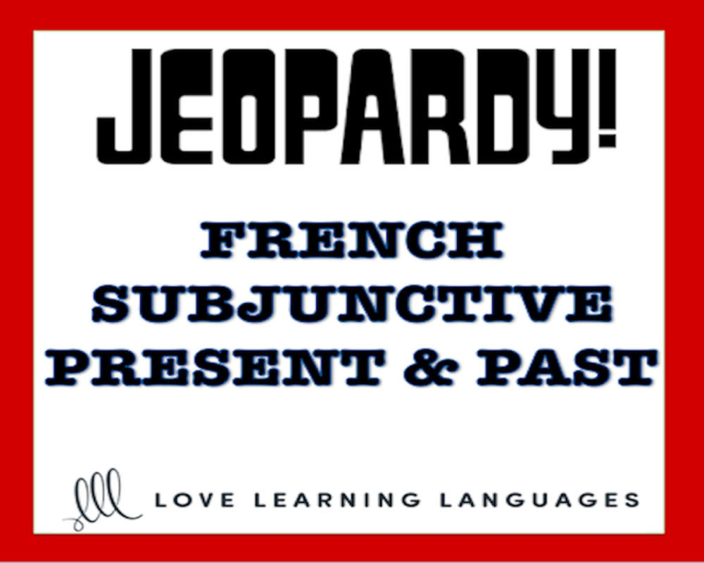 French Subjunctive Powerpoint Jeopardy Game Le Subjonctif Etsy In 2021 Jeopardy Game French Teacher This Or That Questions [ 799 x 1000 Pixel ]