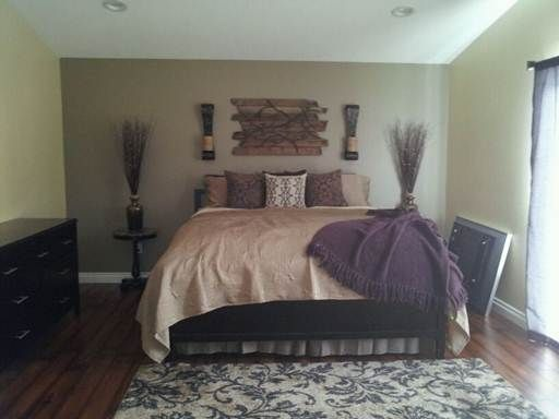 Genial Taupe With Purple Master Bedroom