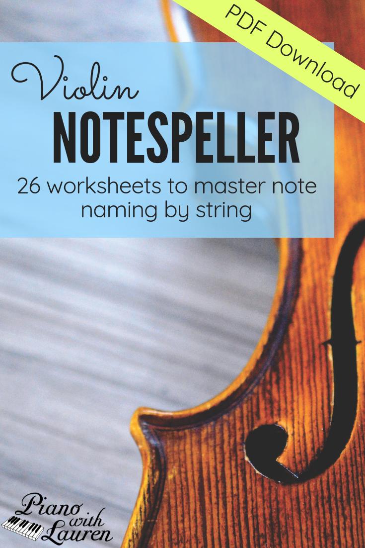 Violin Note Speller - Level 1 (PDF Download) | Violin
