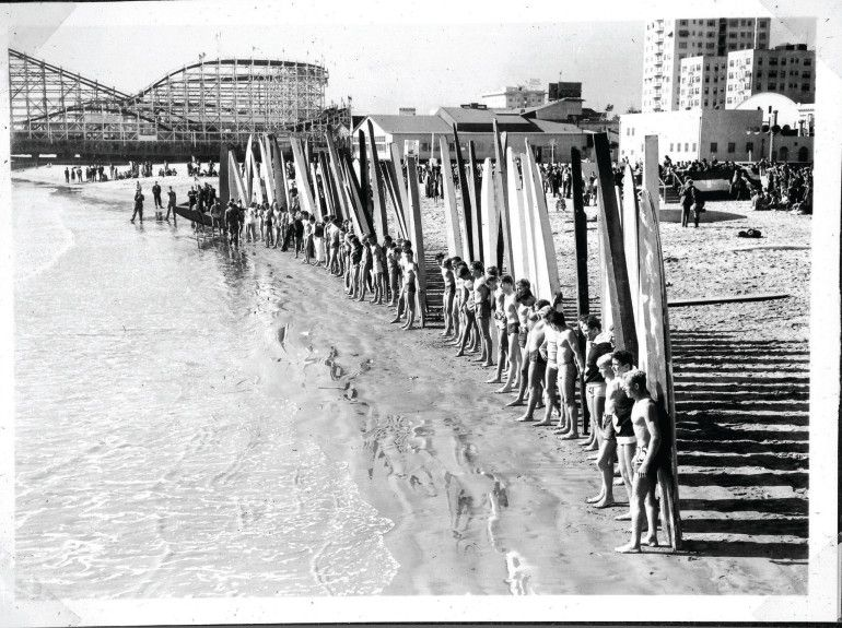 Long Beach was once a surfing hot spot, before a breakwall