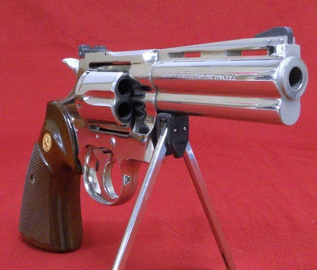 Colt Python Nickle  Magnum  Barrel Revolver Forn SaleMn