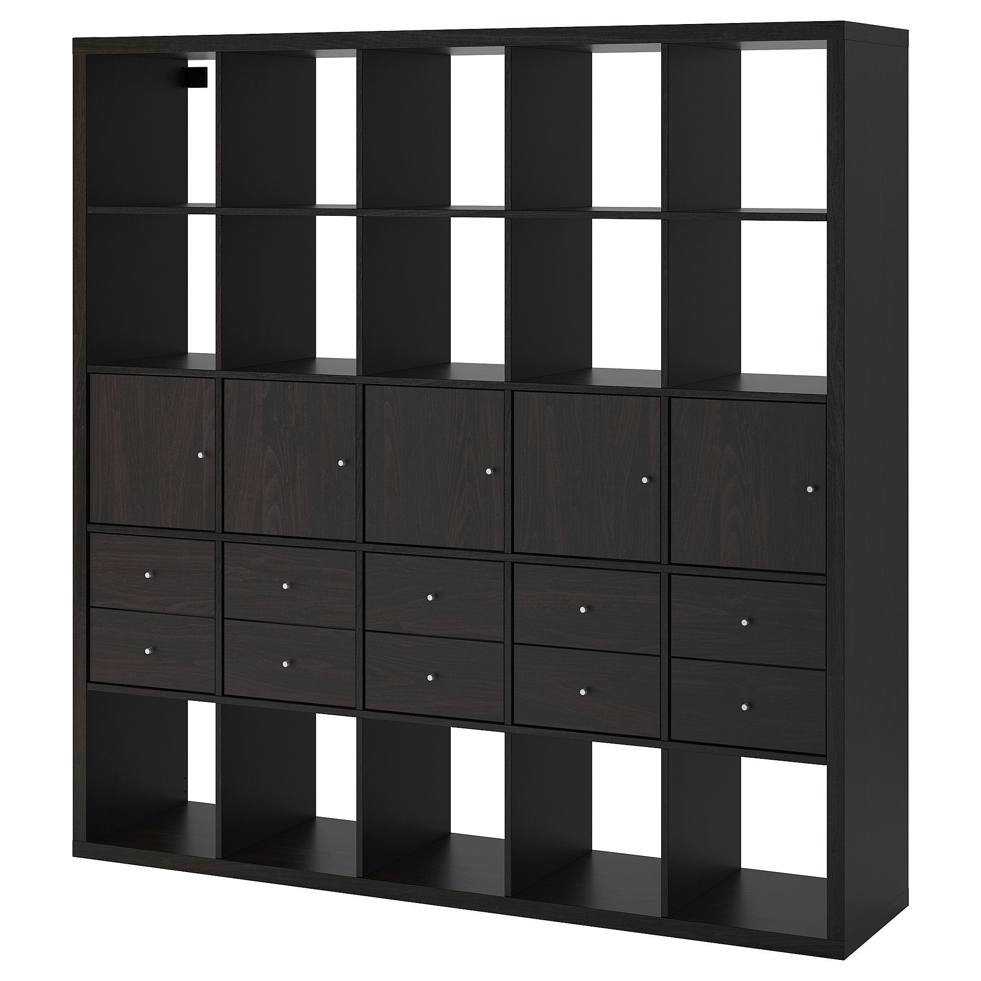 Ikea Regal Mit 10 Einsatzen Einsaumltzen Ikea Mit Regal Schwarzbraun In 2020 Ikea Kallax Shelf Unit Kallax Shelf Unit Ikea Kallax Shelf