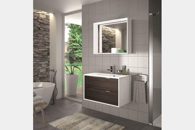 Meuble Edge chez Allibert | Meuble salle de bain, Deco salle ...