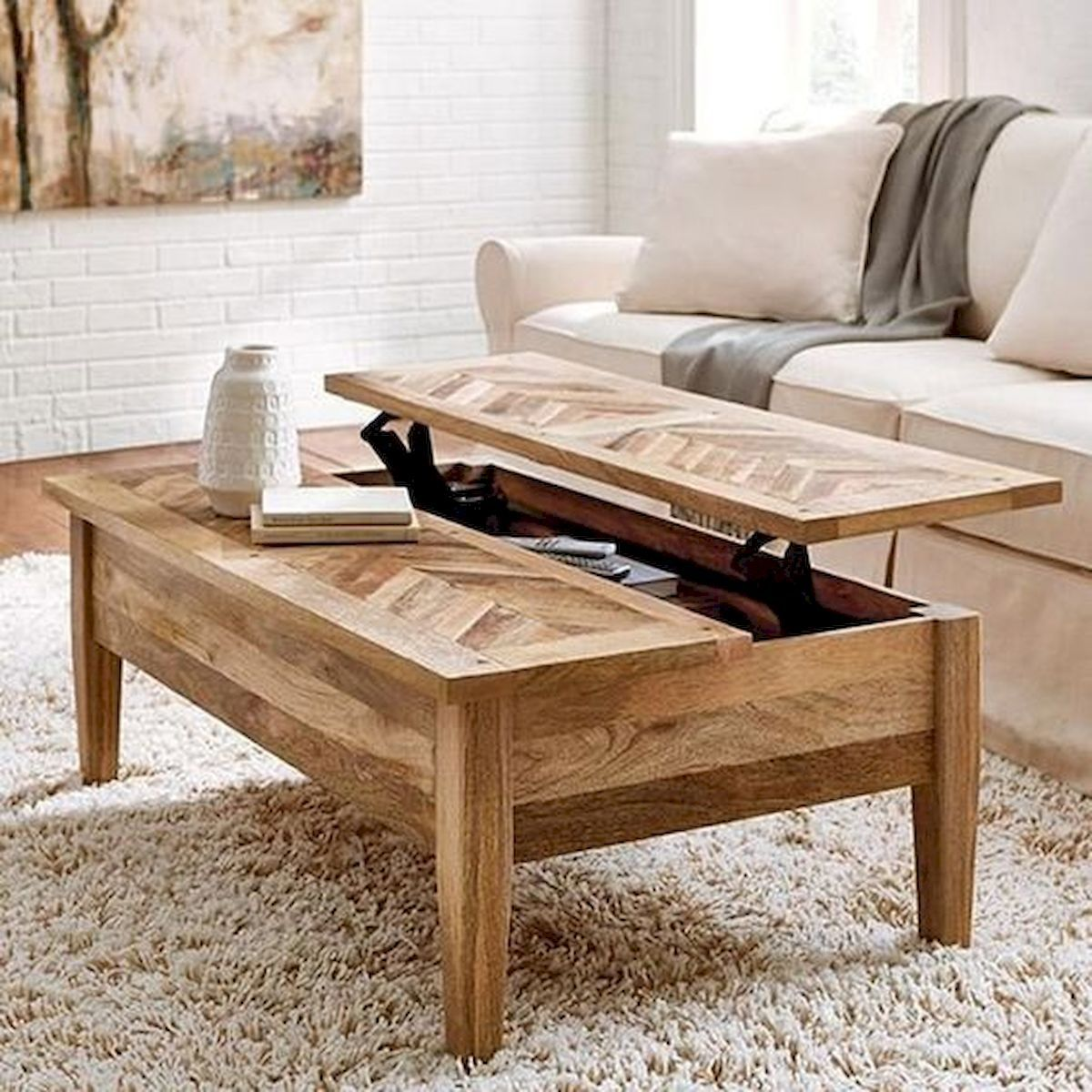 60 Creative Diy Projects Furniture Living Room Table Design Ideas Wooden Coffee Table Designs Coffee Table Farmhouse Living Room Table [ 1200 x 1200 Pixel ]