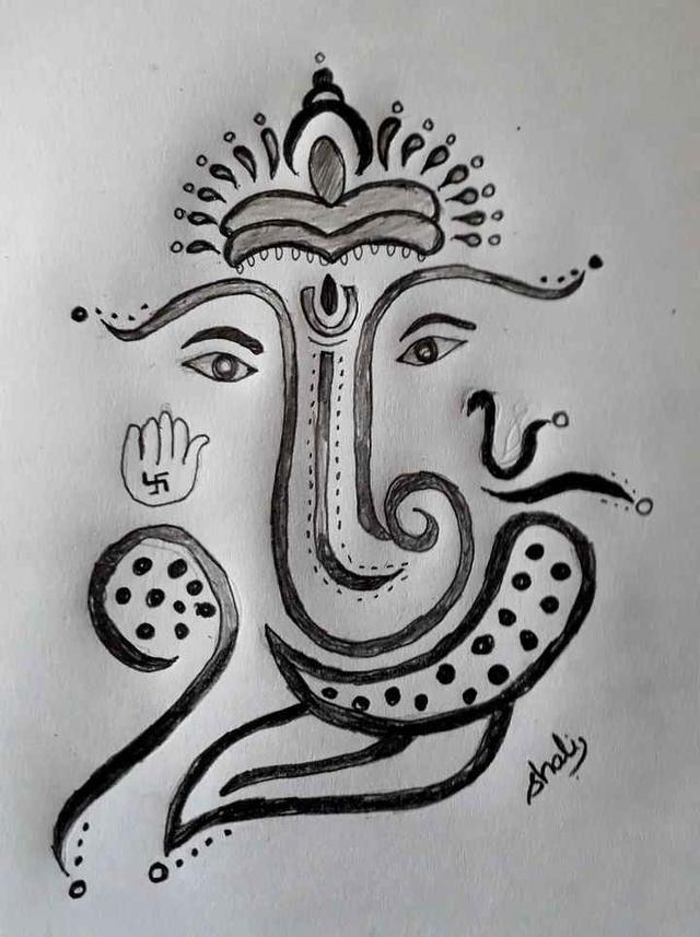 2019 Started With Vinayagar Drawing My Drawing My Drawings Drawings Drawing Sketches