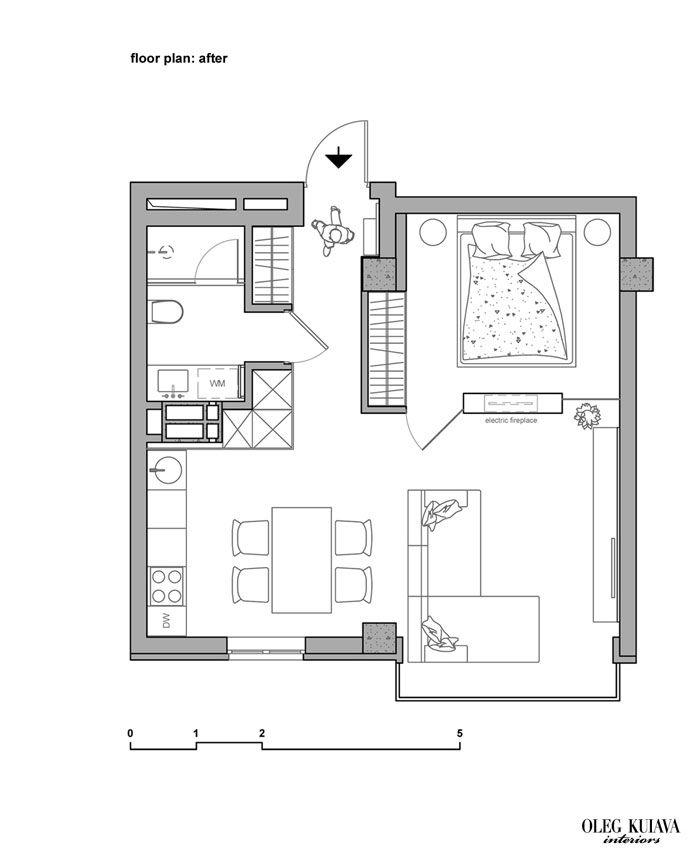 Small Apartment Interior Design By Oleg Kuiava Small Apartment Plans Interior Design Apartment Small Small Apartment Layout