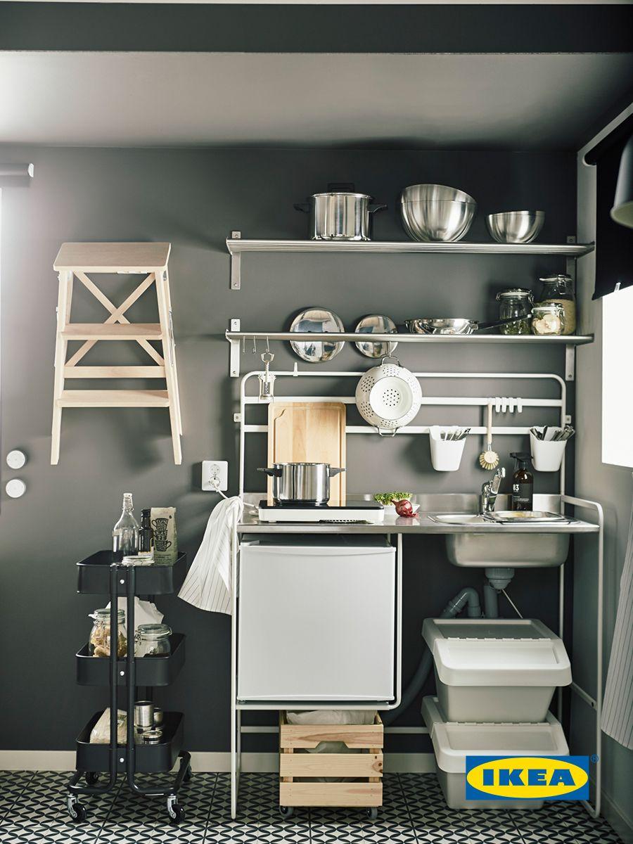 Дизайн дуото JOPIA избраха мини-кухнята SUNNERSTA, защото е на ...