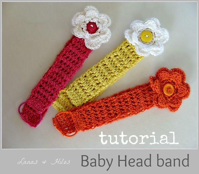 Crocheted Headbands Love The Pony Tail Holder Extender Neat