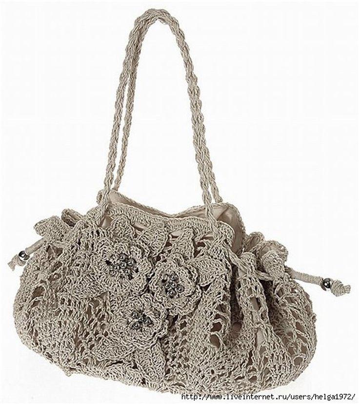 Top 10 Gorgeous Crochet Patterns for Handbags | Gehäkelte taschen ...