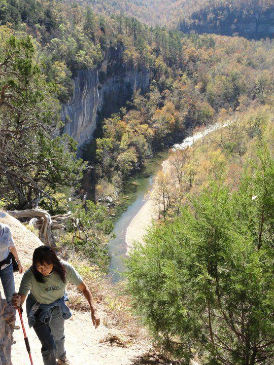 Hiking Big Bluff. 600 feet above the Buffalo River, near