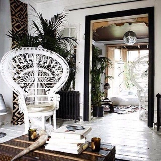 This. All of this. #homedecor #boho #interiordesign #peacockchair #obsessed #bohemian