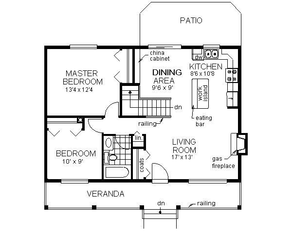 Country Style House Plan 2 Beds 1 Baths 900 Sq Ft Plan 18 1027 Small House Floor Plans Country Style House Plans House Plans