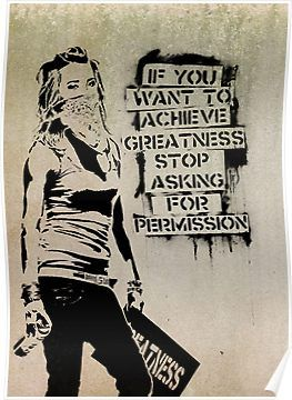 'Banksy, greatness' Poster by Alma-Studio