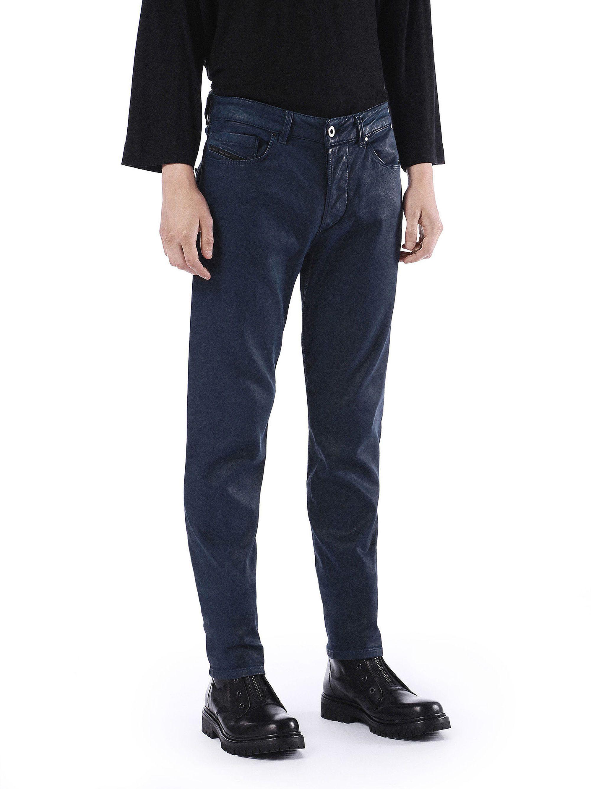 b1dc9c7f Diesel Black Gold TYPE-247 Skinny Fit Stretch Fleece-Knit Denim Jeans in Dark  Blue from the Diesel Online Store #DieselOnlineStore #DieselBlackGold  #TYPE247