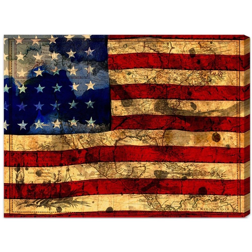 Oliver Gal 'The Flag' Canvas Art | Overstock.com Shopping - The Best Deals on Canvas