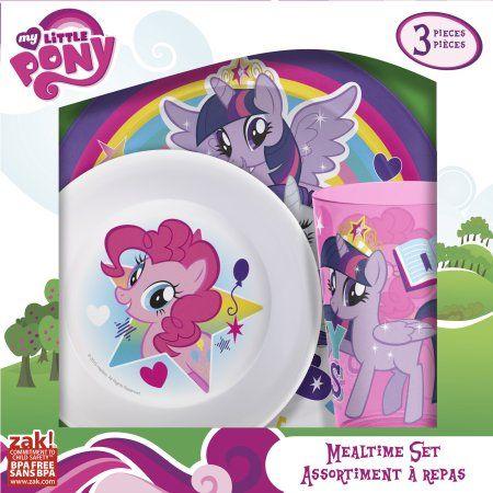 My Little Pony 3-piece Kids Dinnerware Set by Zak!, Assorted