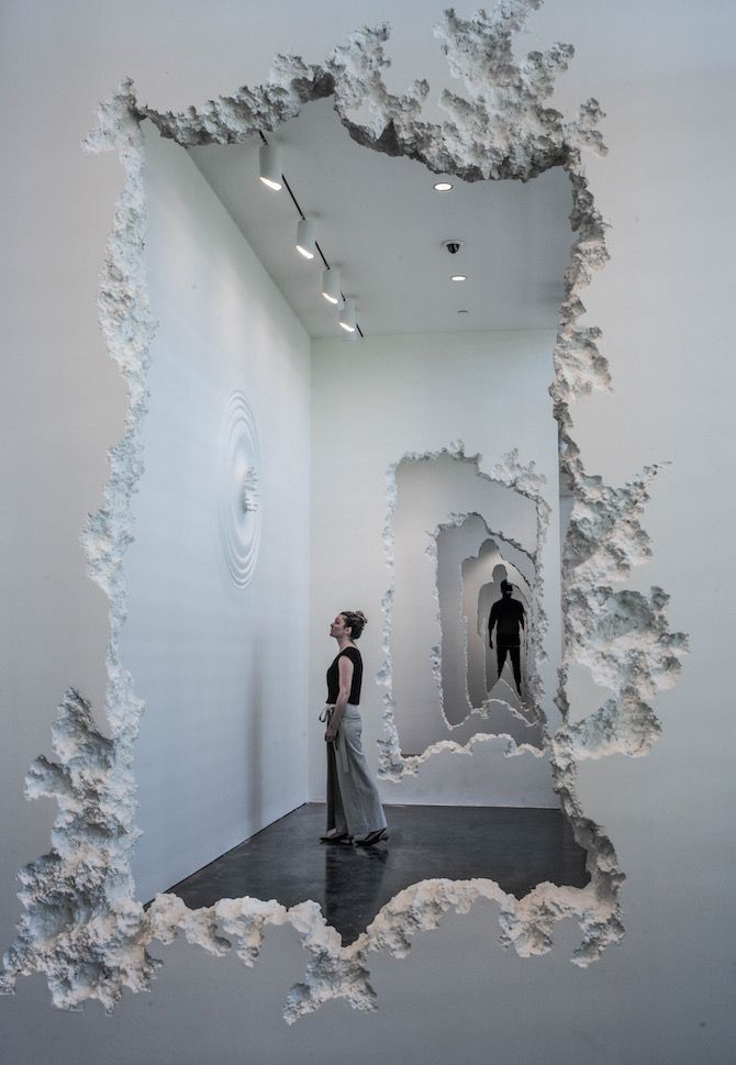 An Excavated Wall Installation By Daniel Arsham #artinstallation