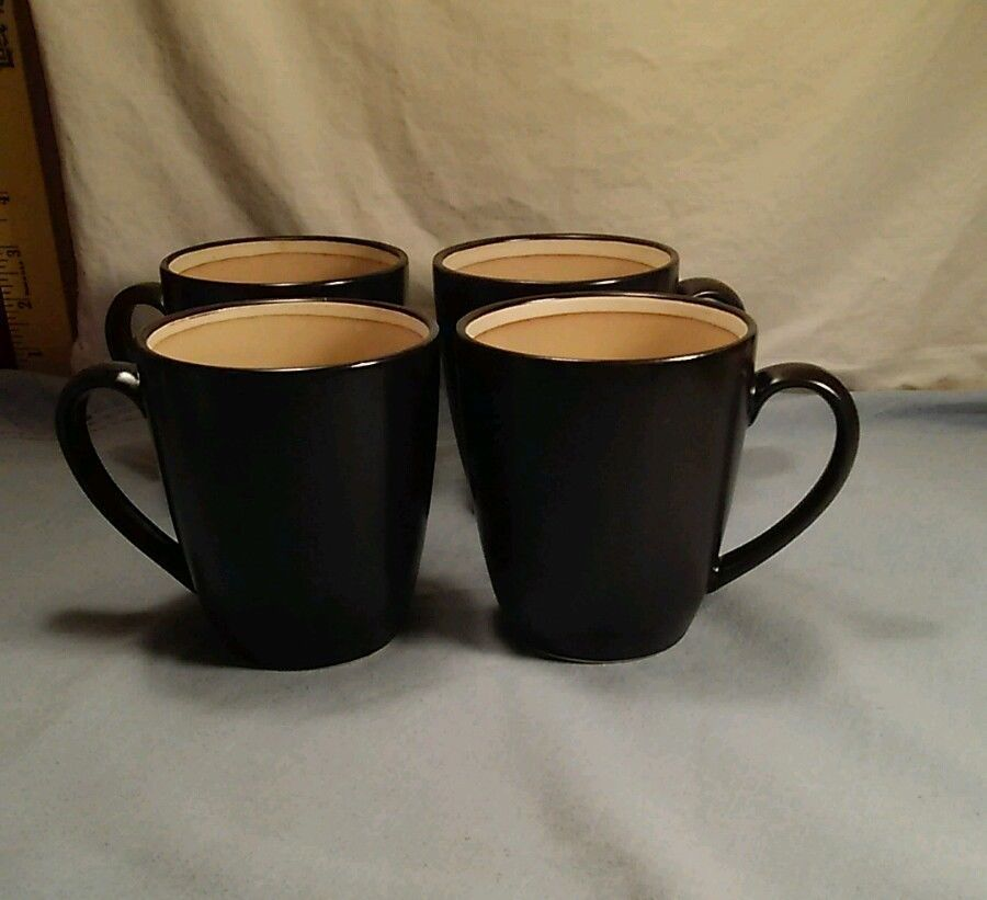 Sango Encore 4910 Set of 4 Coffee/Tea 12oz Mugs Excellent Condition #Sango