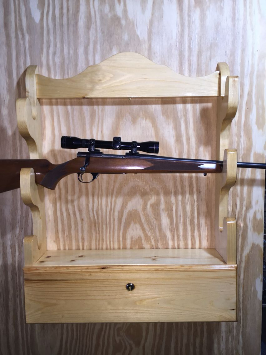 Wall Gun Rack Build Projects Pinterest Guns Rifle Rack And