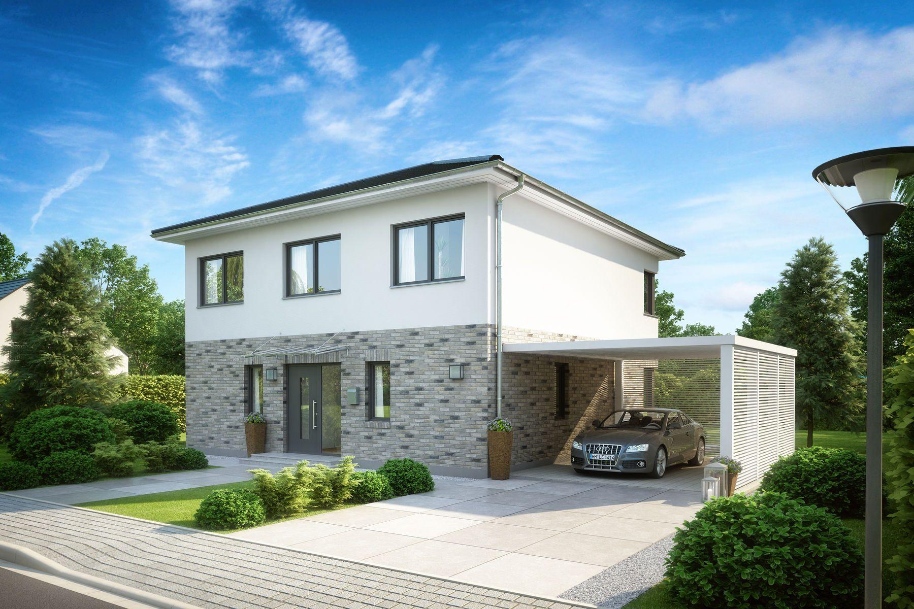 Stadtvilla mit carport und garage  csm_kern-haus-stadtvilla-centro-eingangsseite-klinker_6342a0b56f ...