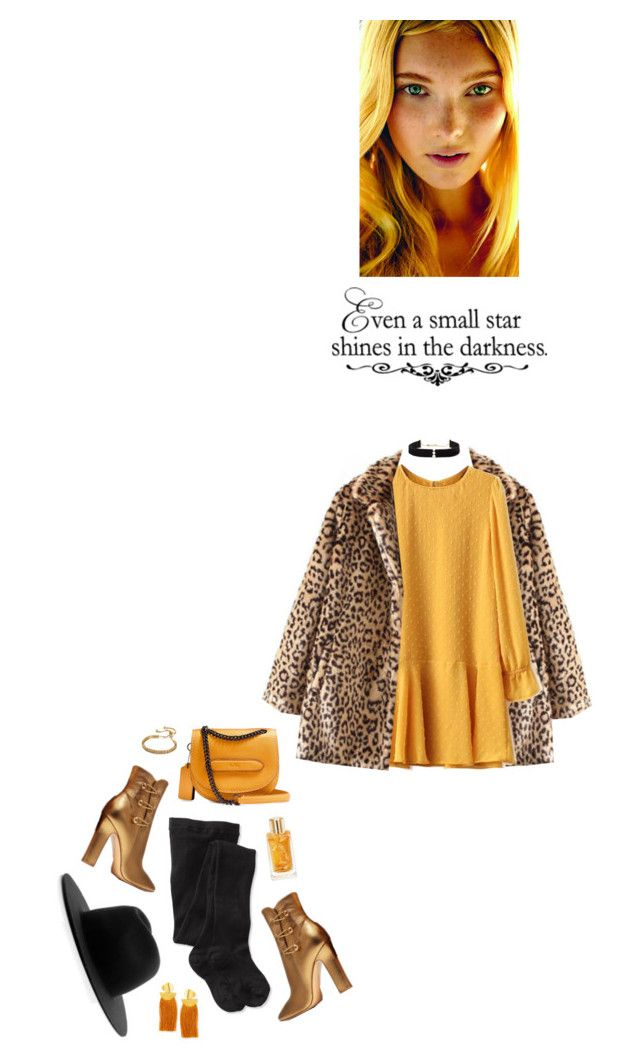 """""""even a small star shines in the darkness"""" by agnelija ❤ liked on Polyvore featuring WithChic, Smartwool, Études, Anissa Kermiche, Gianvito Rossi, Lancôme, Lizzie Fortunato and WALL"""