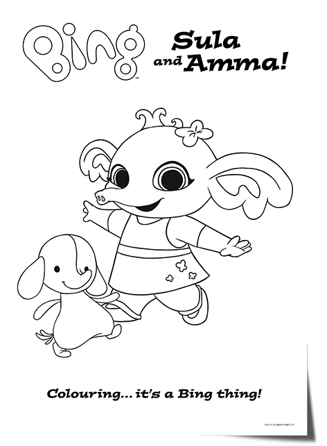 Bing Lineart Sula Amma Bing Bunny Bunny Coloring Pages Bing