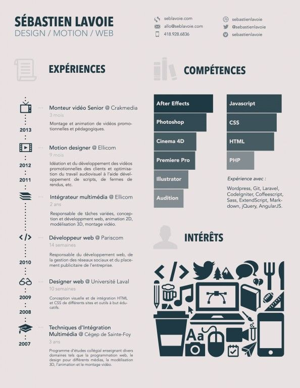 Curriculum Vitae Infographic Infographic love Pinterest - my personal resume