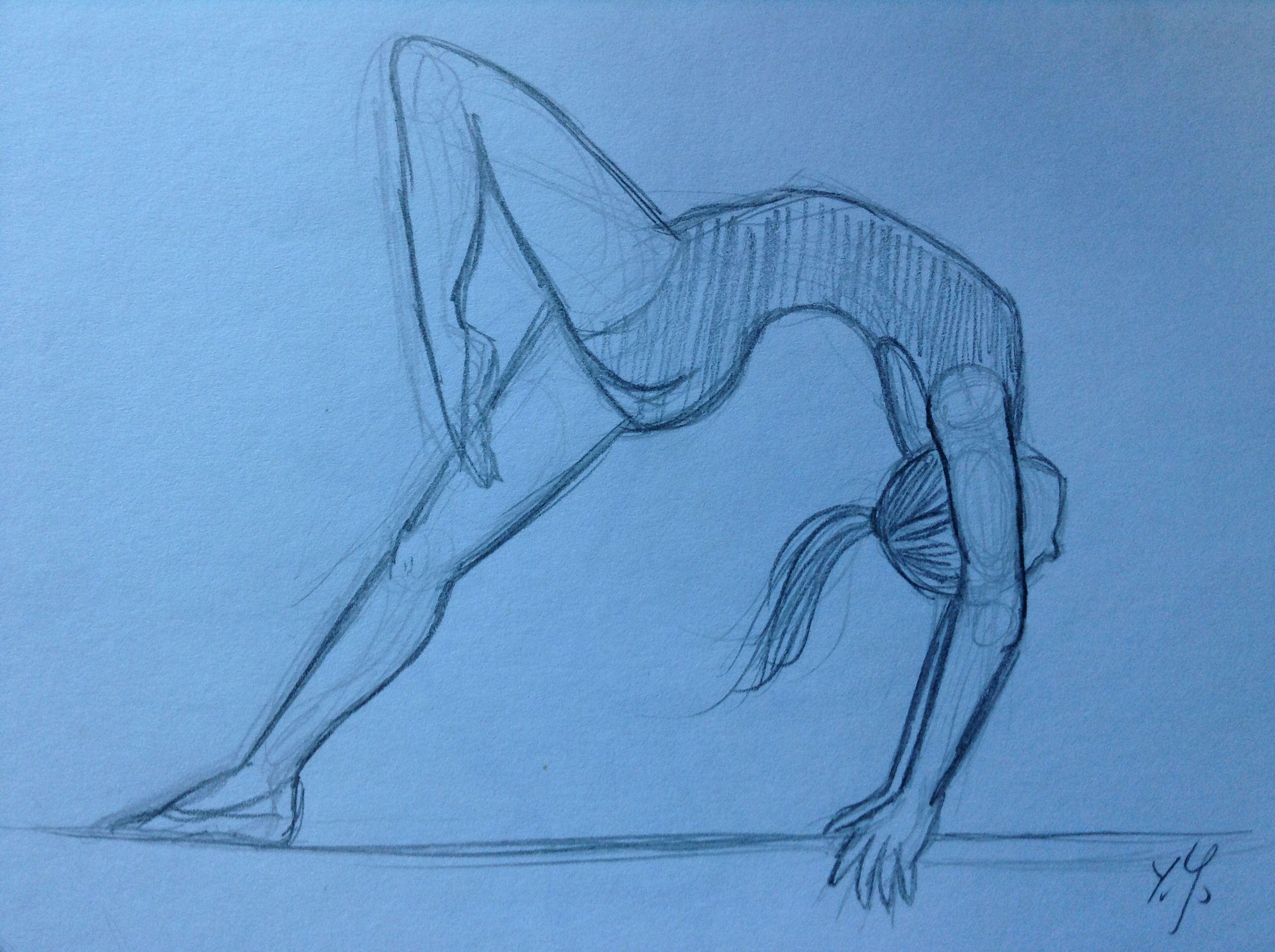 Gymnastics girl sketch. By Yenthe Joline. | Гимнастика | Pinterest ...