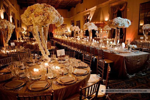 Champagne And Chocolate Wedding Decor The Flowers Might Be A Bit Over