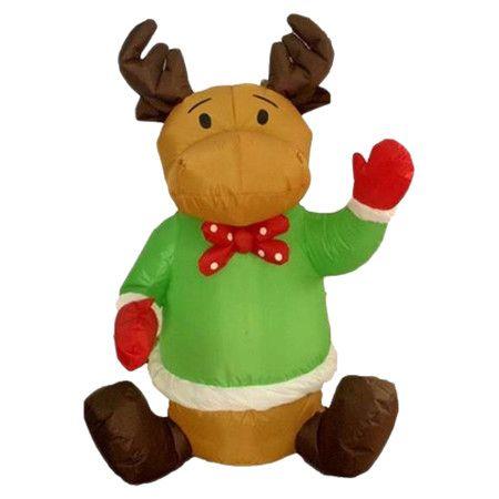 Found it at Wayfair - 4\u0027 Christmas Inflatable Sitting Reindeer - moose christmas decorations