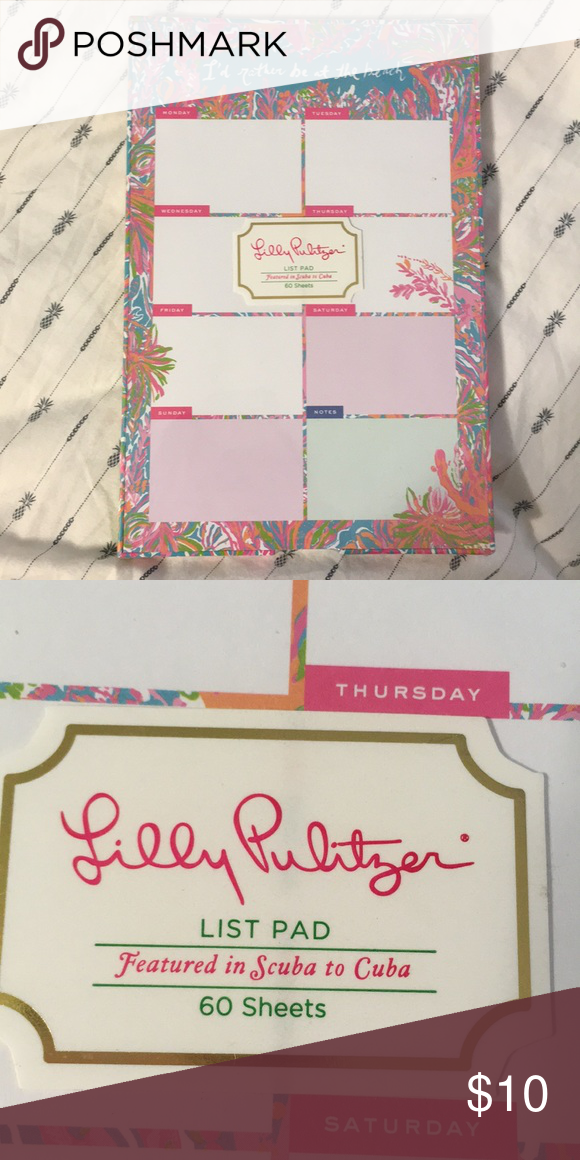Lilly Pulitzer weekly/daily notepad Never opened, still in packaging ...