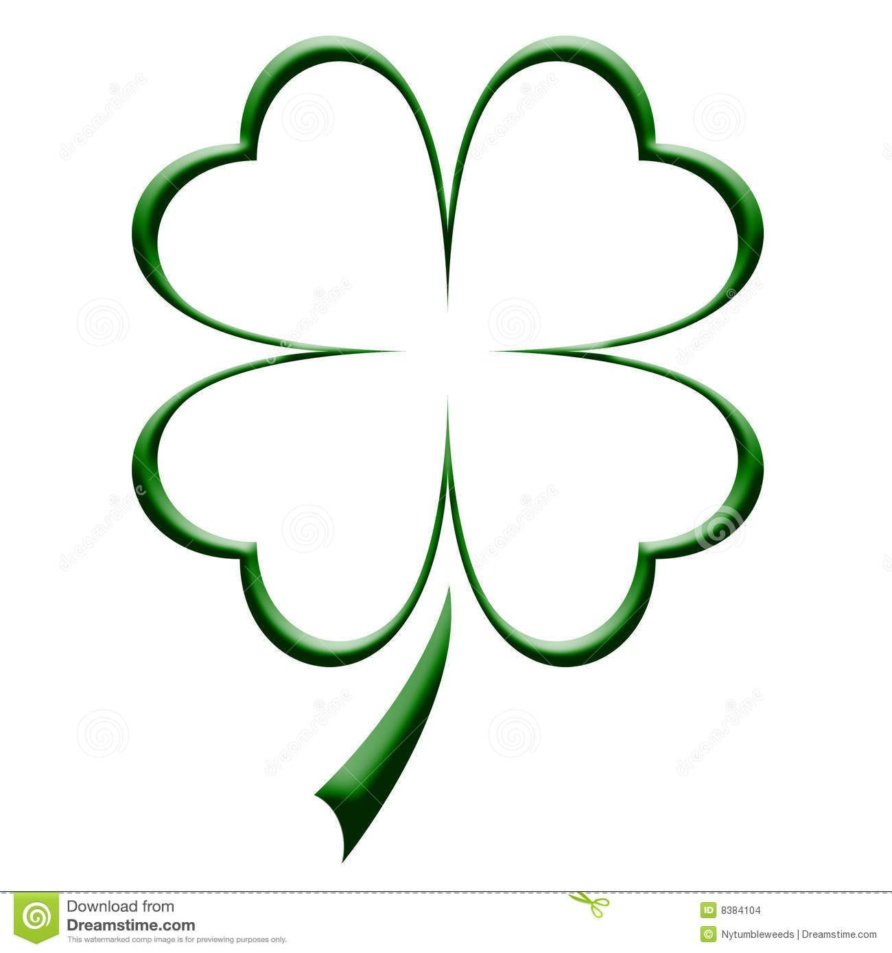 Stock Illustration Of Four Leaf Clover Outline Outline Illustration 8384104 Tatuajes Trebol 4 Hojas Trebol De Cuatro Hojas Tatuajes Trebol De Cuatro Hojas