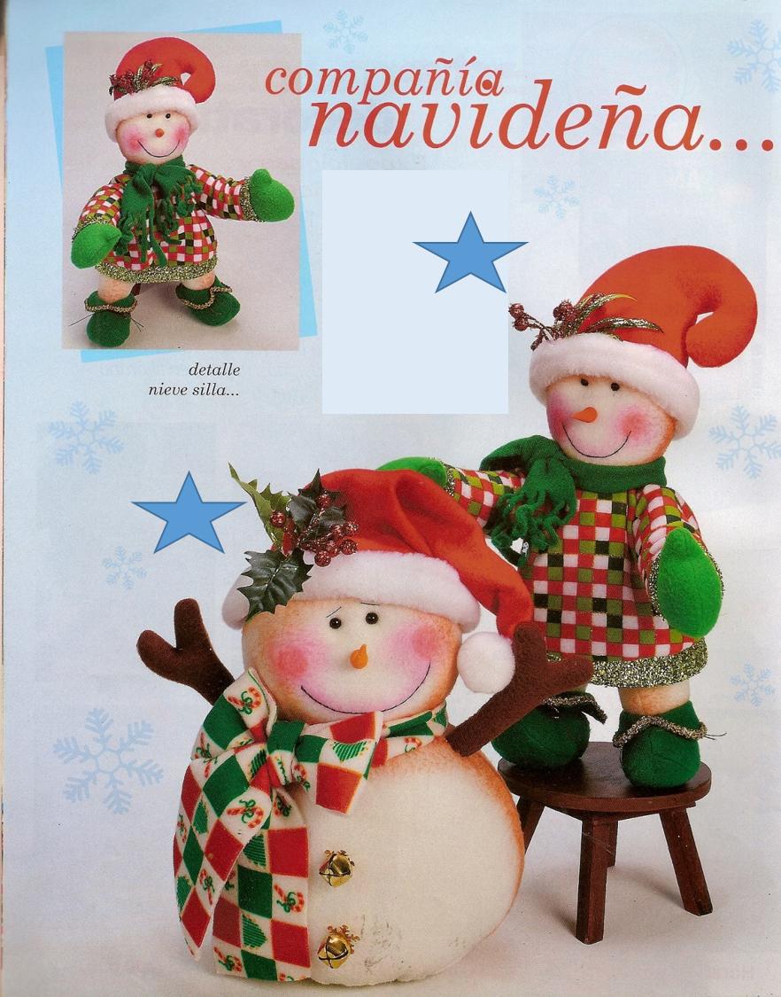 Patrón compañia navideá | NAVIDAD | Pinterest | Patrones, Muñecos ...
