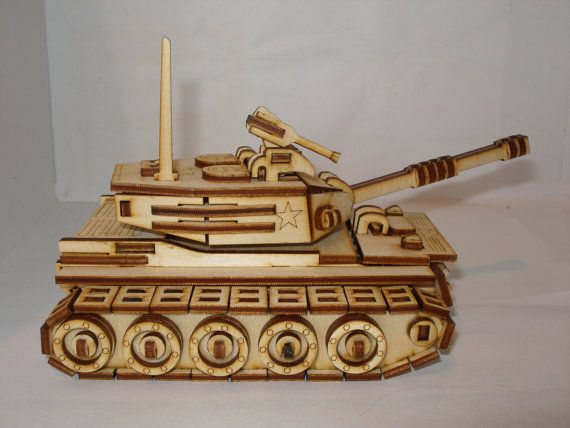 Small Tank Apache Or Hummer Model Plywood Laser Cut Kit Or