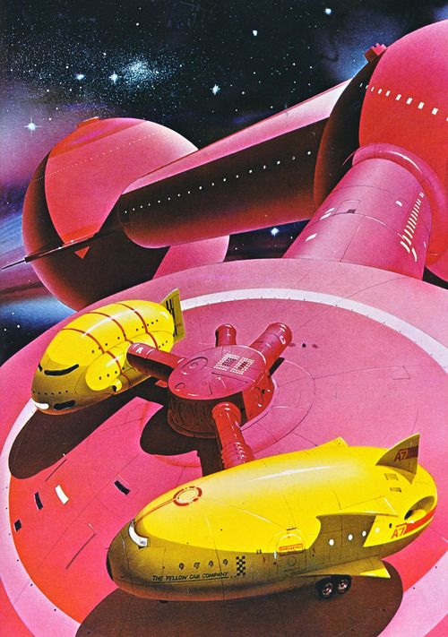 Painting by Chris Moore from the book Dangerous Frontiers (1980)