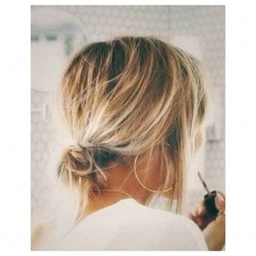 cute-easy-buns-for-short-hair-1 Ideas de peinado simples y dulces para cabello corto – …