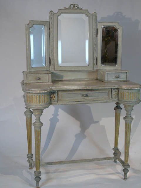 Best Small French Louis Xvi Style Dressing Table With Triple 400 x 300