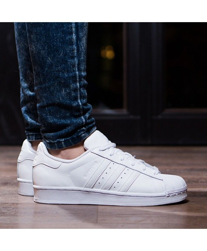 Adidas Superstar Junior White Trainers
