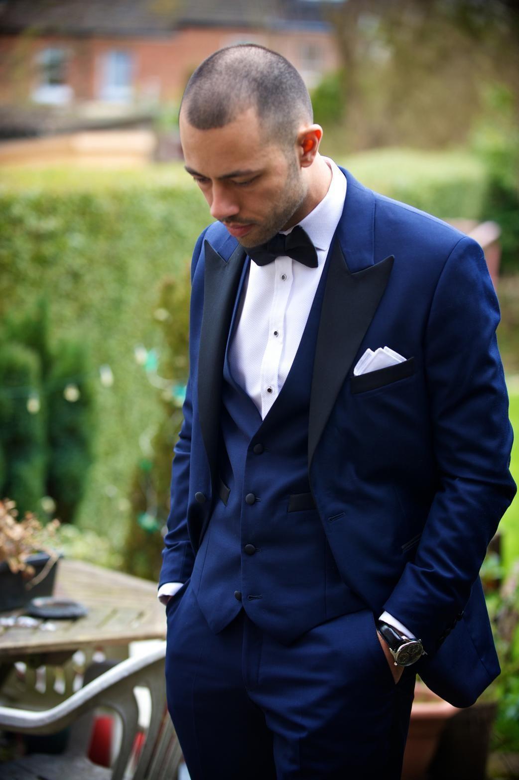153c951e3 2015 Summer Tuxedos Notched Lapel Mens Suits Blue Mens Wedding Suits ...