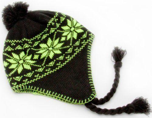 2aa9012109f60 Alkii Braided Neon Aviator warm beanie snowboarding winter snow hats -  Green. From  Alkii