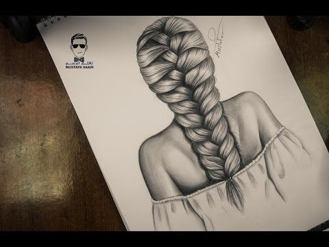 How To Draw A Plait Braid Hair Drawing Tutorial Step By Step Youtube How To Draw Hair Braids Illustration How To Draw Braids