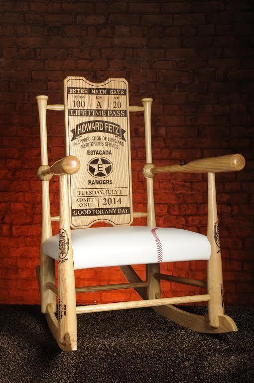 Tremendous Original Custom Made Genuine Baseball Bat Rocking Chairs Inzonedesignstudio Interior Chair Design Inzonedesignstudiocom