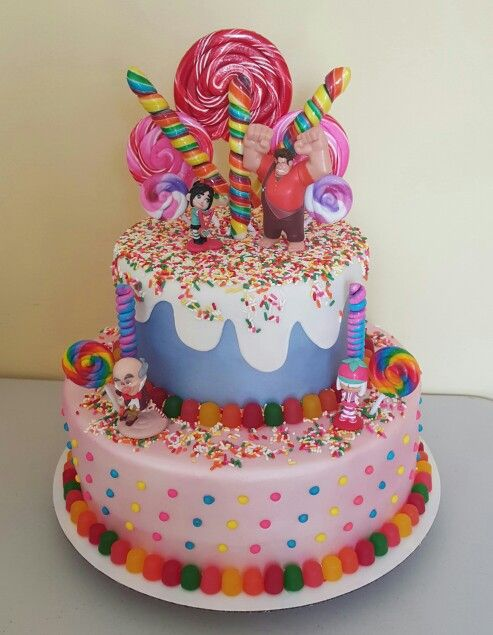 Wreck It Ralph Cake Wreckitralph Candy Land Birthday Party
