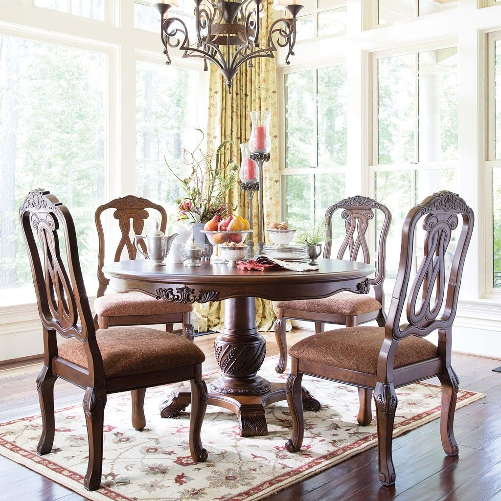 North shore round dining table set lachpage pinterest