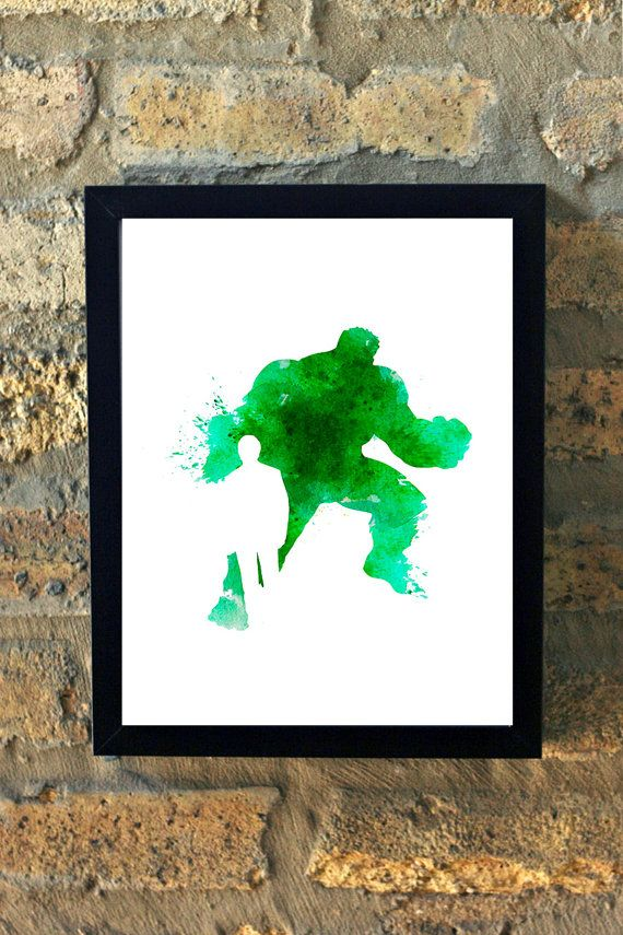 Hulk and Bruce Banner Marvel Comic Watercolor by TheGnakedGnome