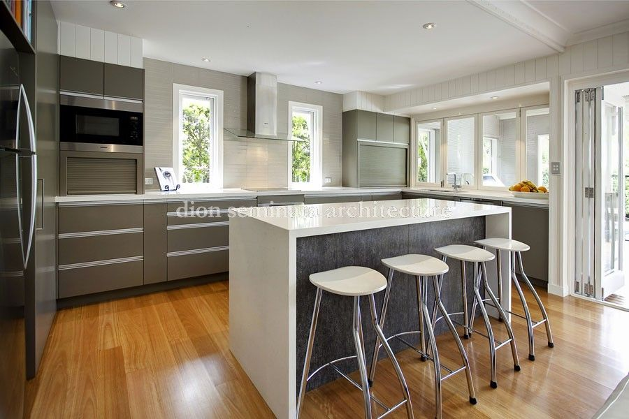 architects hawthorne brisbane qld 4171 queenslander renovation architects modern kitchen on outdoor kitchen queensland id=98736