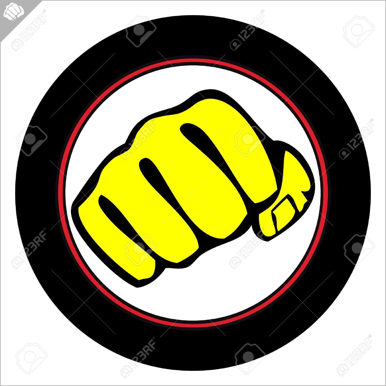 Fist Poster Martial Arts Colored Emblem Symbol Karate Style